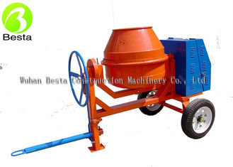 Mobile Mini Diesel Cement Mixer 2 wheel Manual Tipping  with 450 Liter Drum